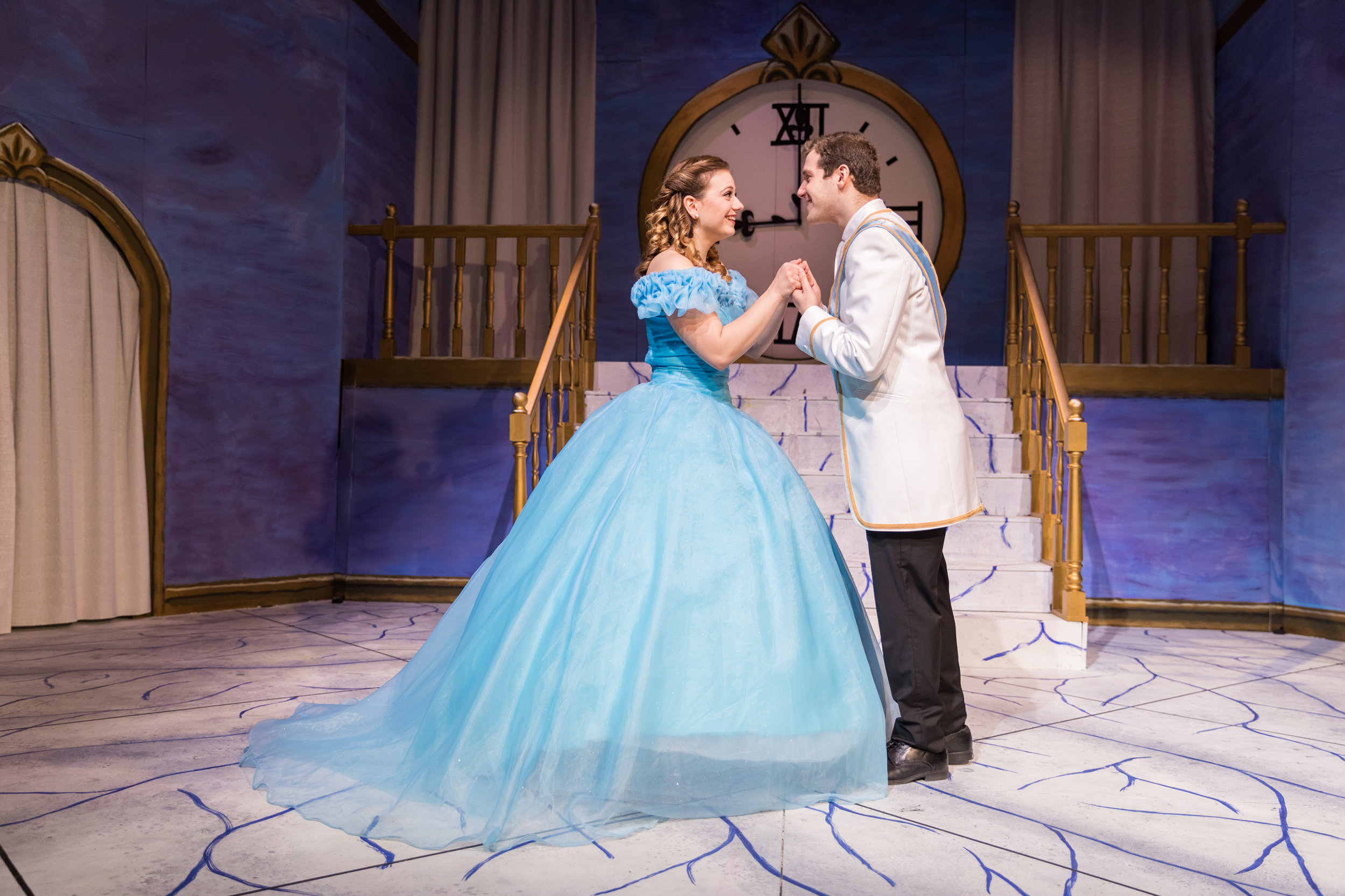 Act II: Cendrillon (Arianna Paz '19) and Le Prince Charmant (Samuel Rosner '20), meet and instantaneously fall in love at the Prince's ball. Photo: Joshua Chiang.