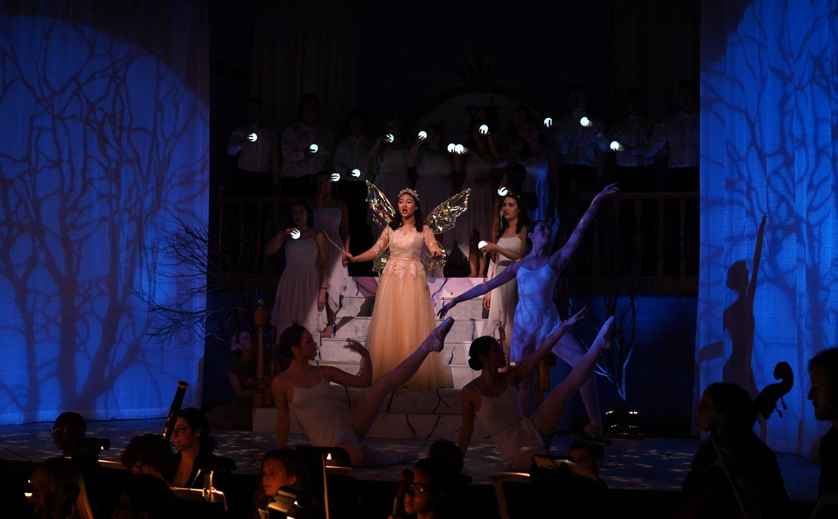 Act III: Natalie Choo ('22) as La Fée in Act III of Massenet's Cendrillon. Photo: Charles Wenzelberg.