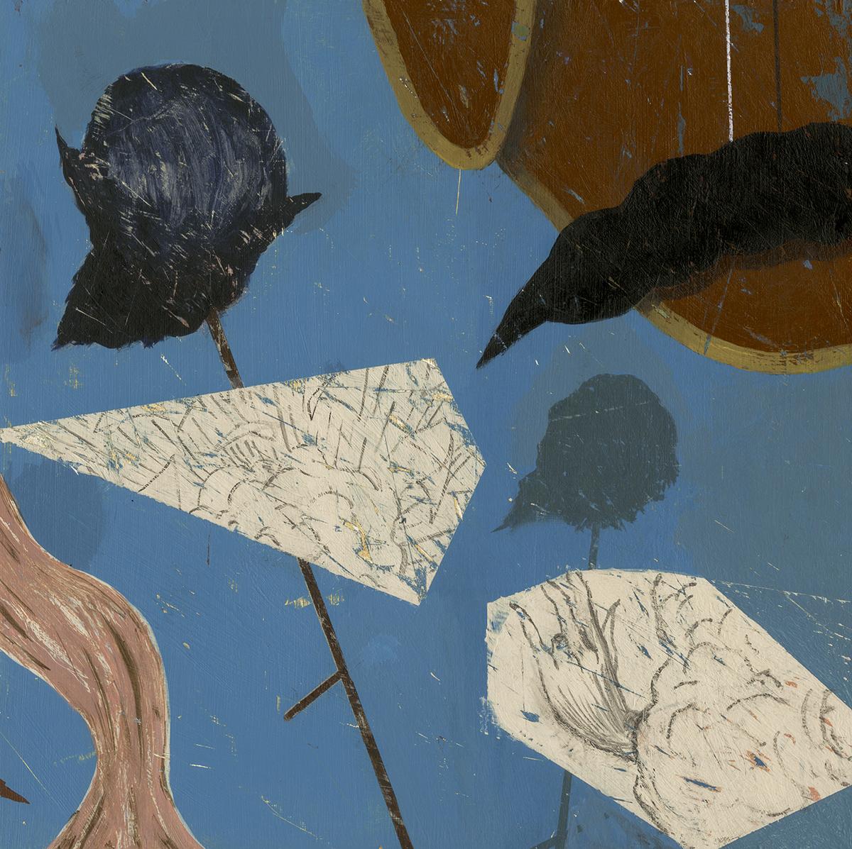 """Untitled - 72  Acrylic on wood  (10.75"""" x 10.75"""")"""