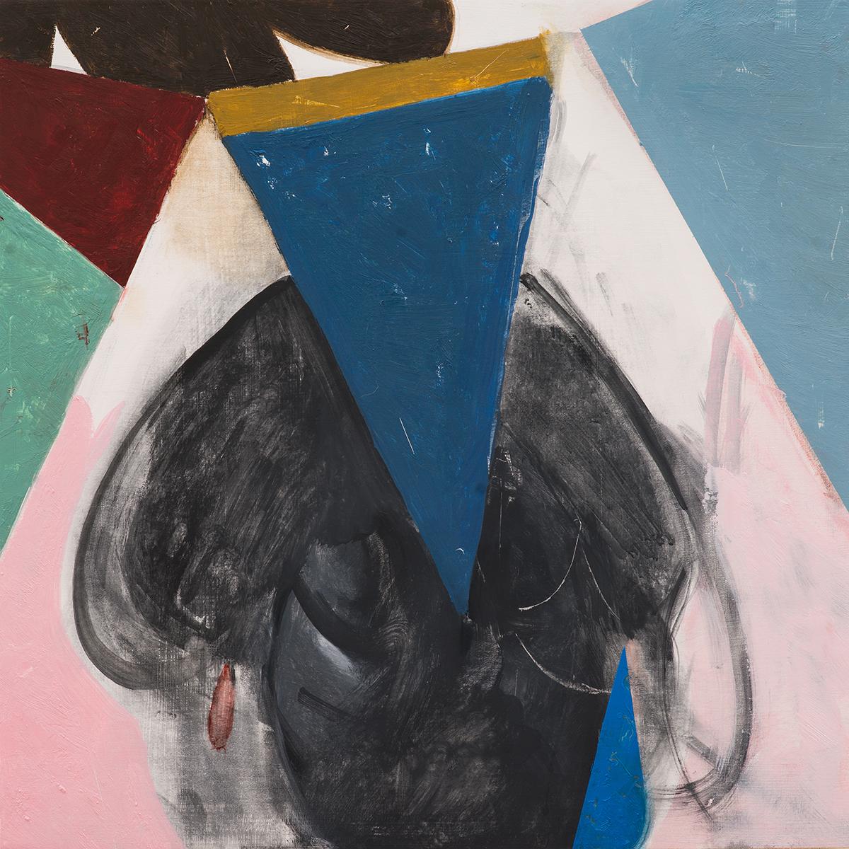 "Portrait No. 2  Oil on Wood  (14"" x 14"")"