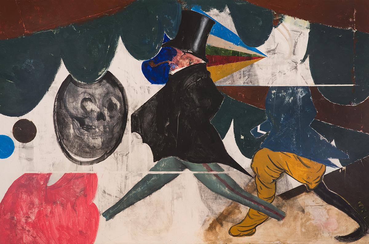 "June  Oil, Acrylic on Wood  (36"" x 24"")"