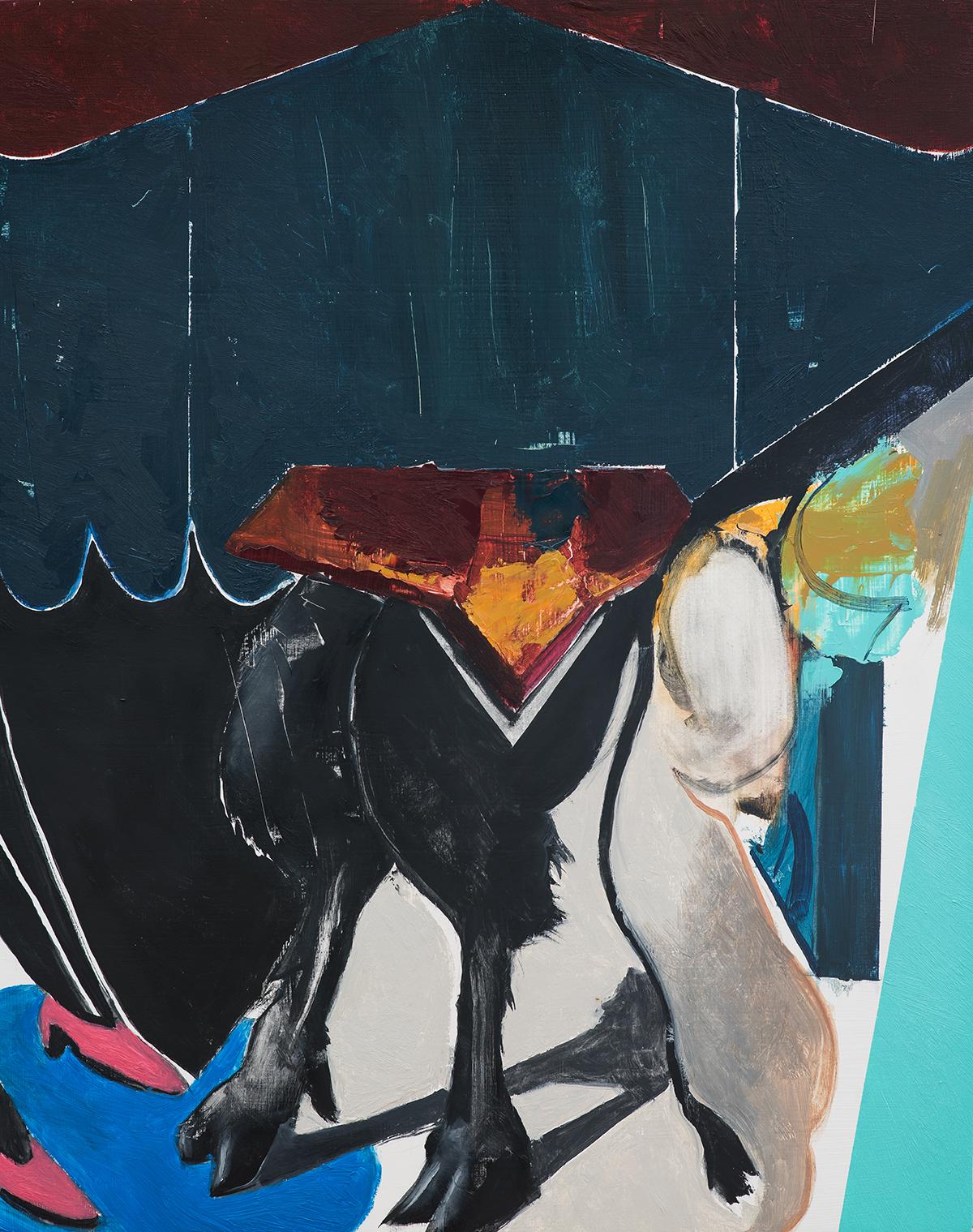 """Untitled - 71  Oil on Wood  (16"""" x 20"""")"""