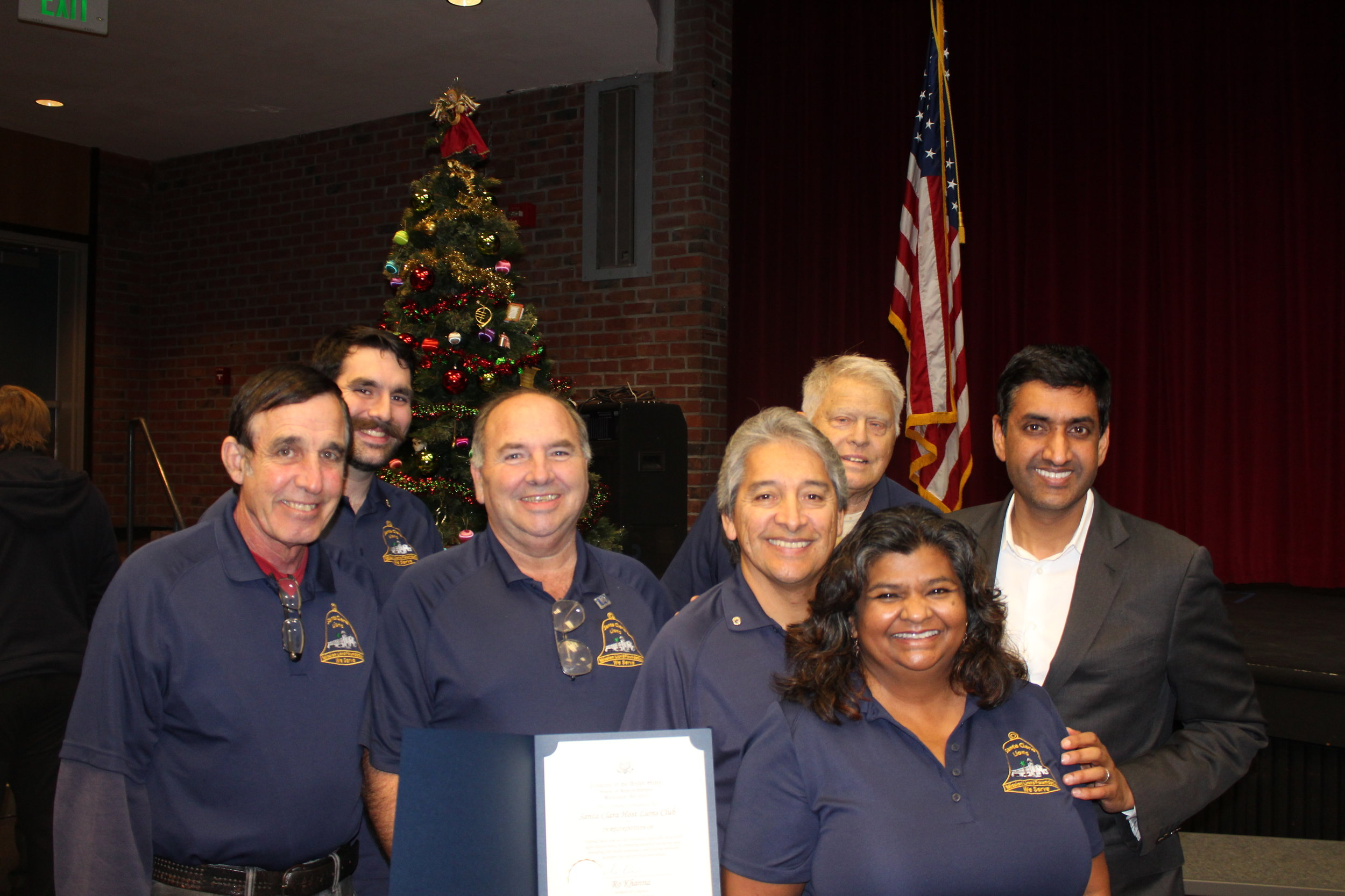 Some of our Lion Club Members with Congressman Ro Khanna