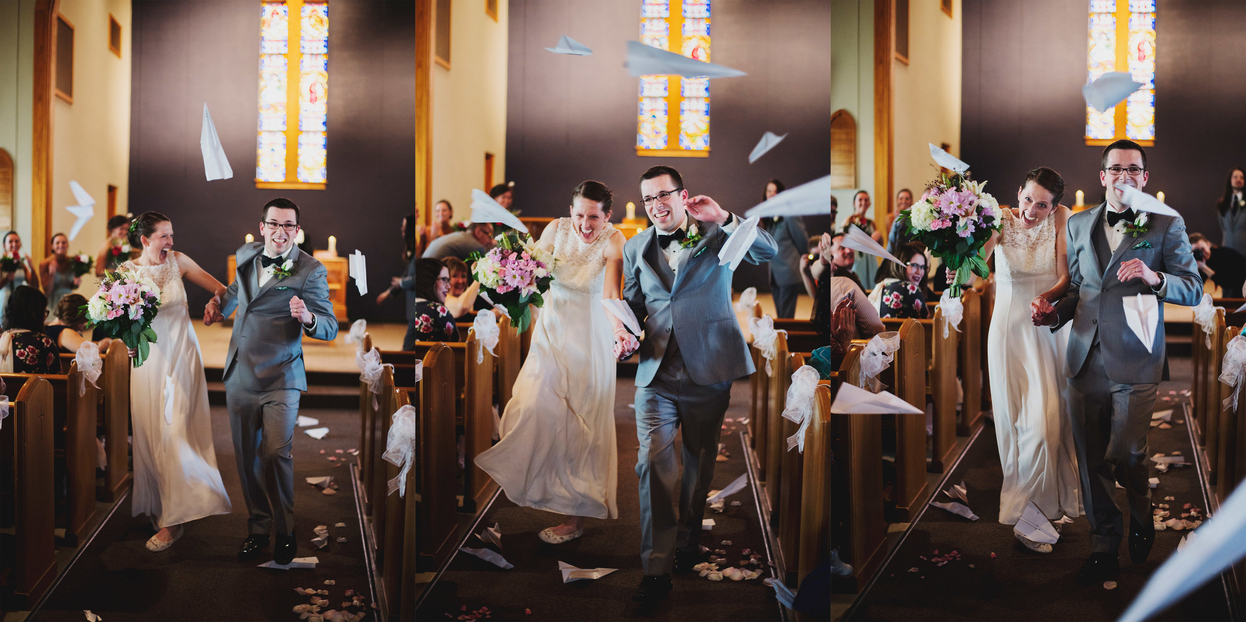 Itasca Paper Airplane Church Ceremony Exit