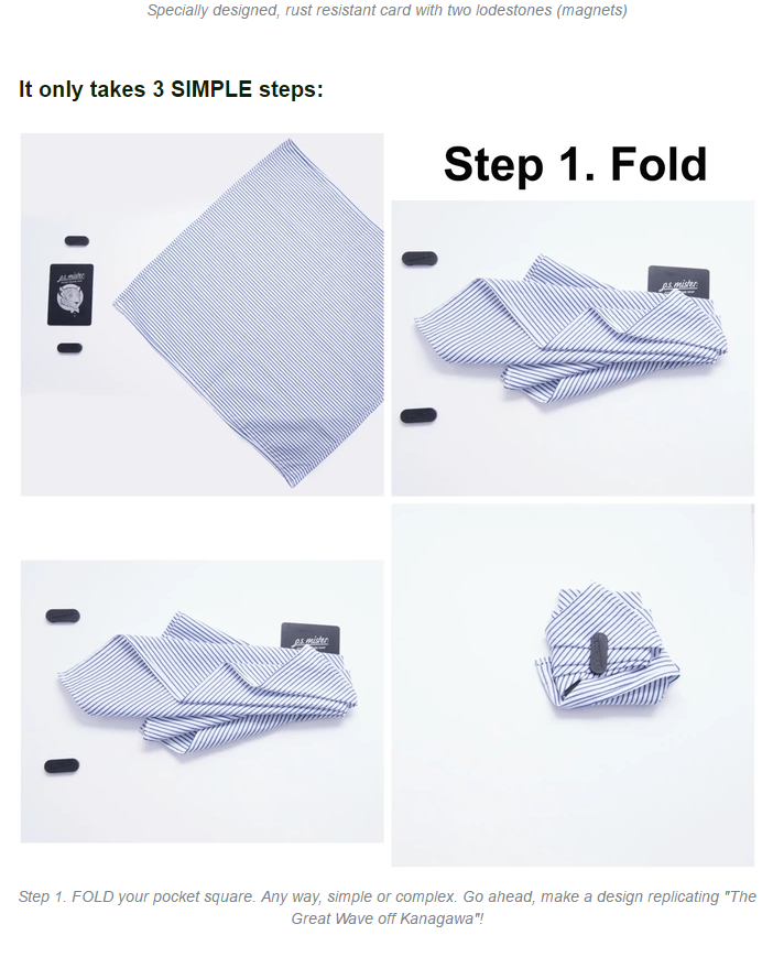 Pocket Square Snap The only invention a man needs. by p.s. mister  Fashion Inventions — Kickstarter.png