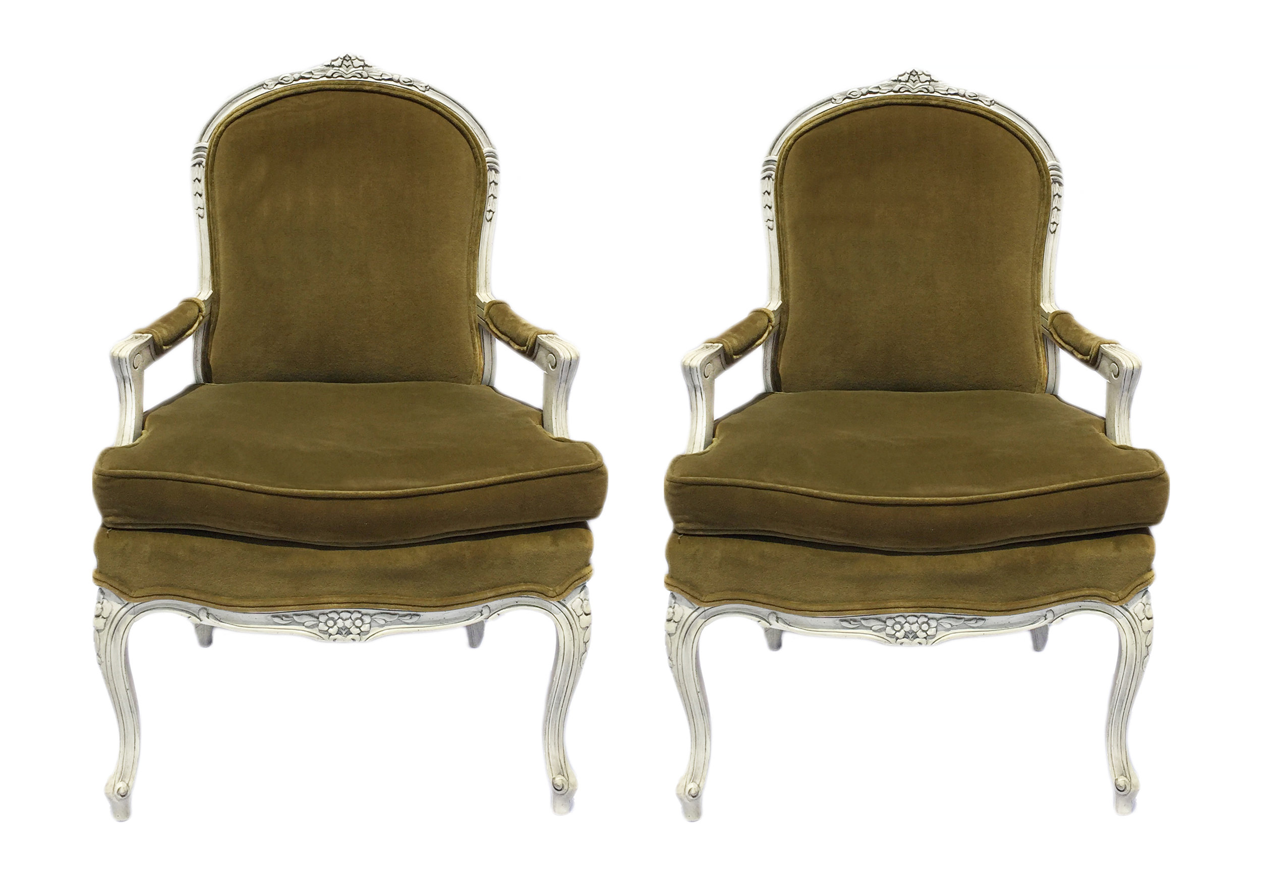 Green velvet armchair pair.jpg