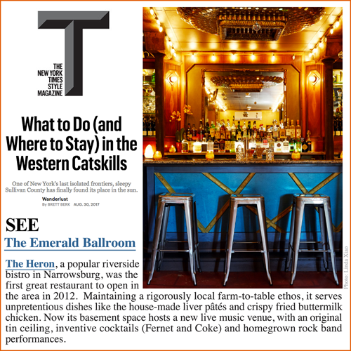 Thank you to  The New York Times Style Magazine  for including us in this feature on the Catskills