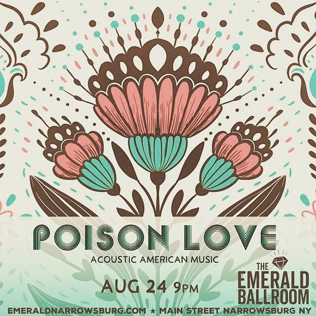 Saturday night live music with Poison Love !  @theemeraldballroom @wassermanbrinkerhoff #narrowsburg #livemusic