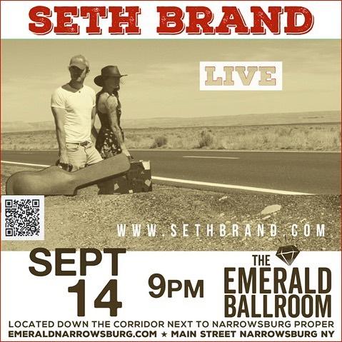 Let's do this !  Saturday Sept 14th @sethbrandmusic @theemeraldballroom #narrowsburg #livemusic