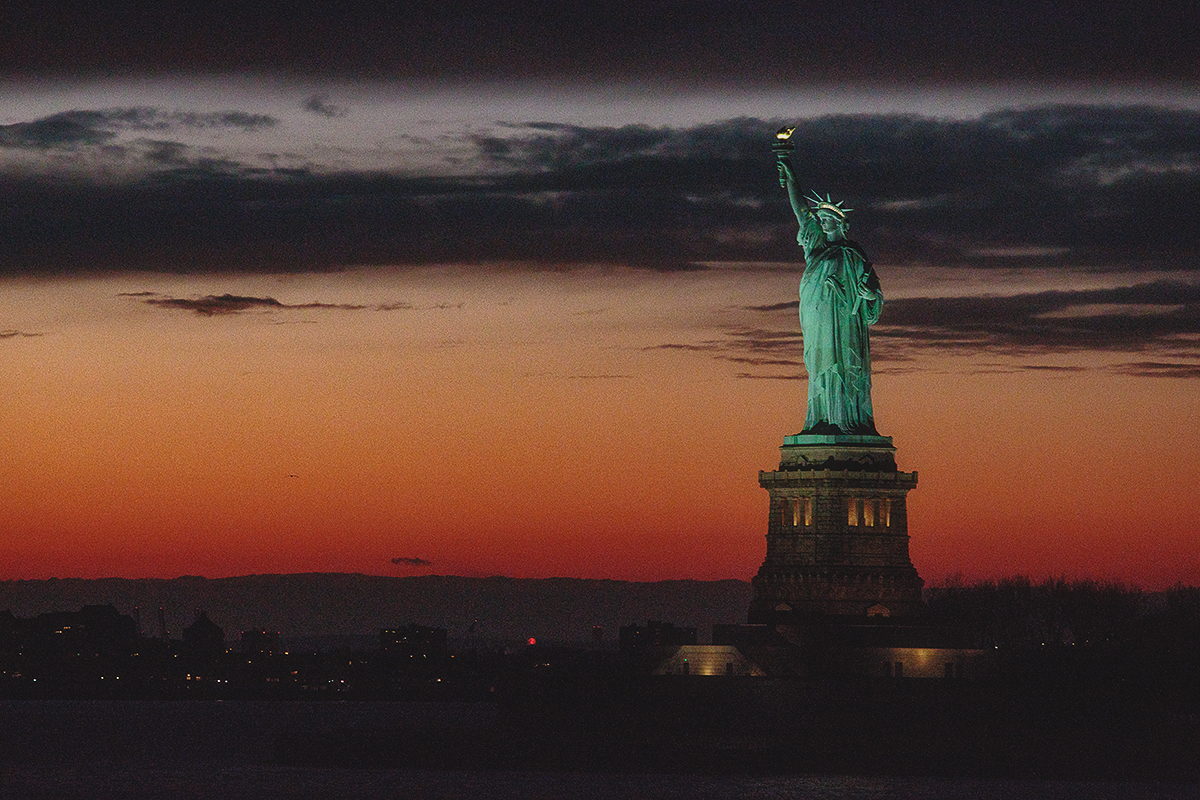 Statue of Liberty. A city symbol.