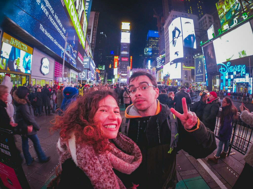 Selfie time in Times Square