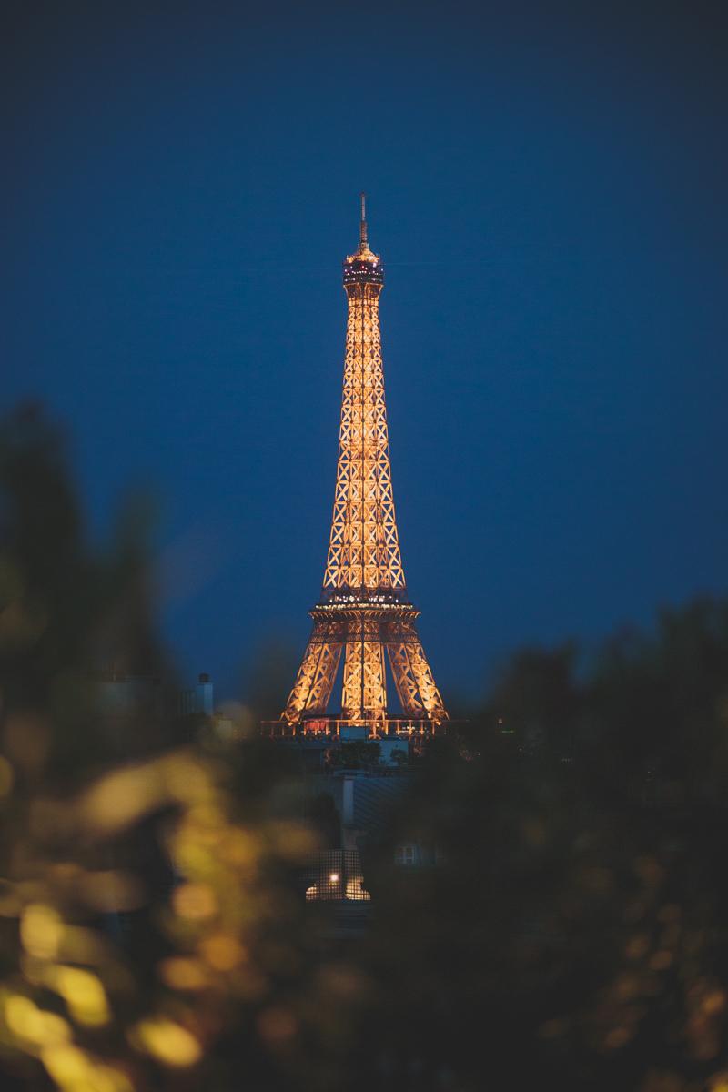 Eiffel Tower View from Peninsula Hotel Balcony
