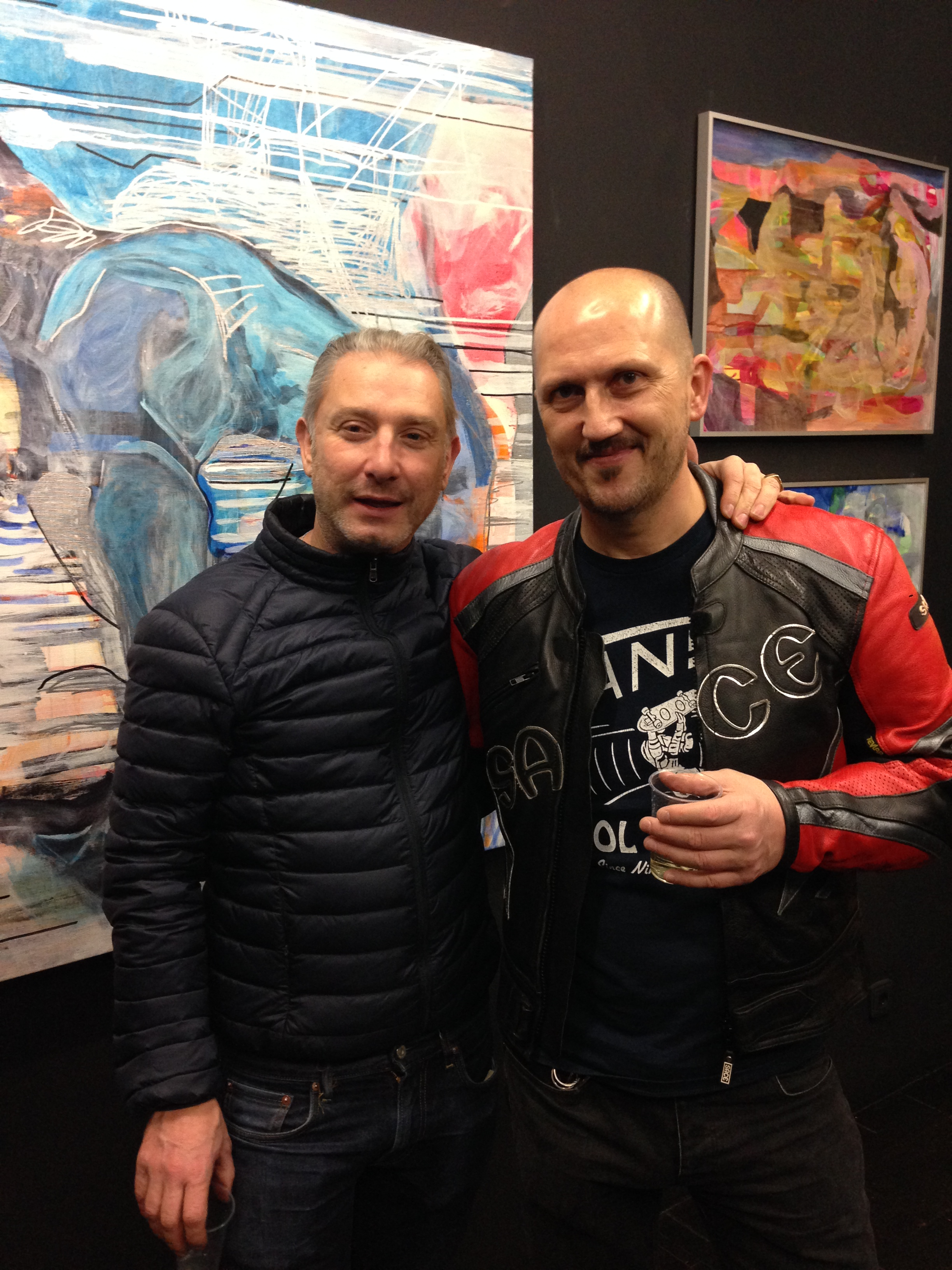 With David Mistre at the opening of his show at the gallery À Rebours Mistre-Favardin. Paris December 2014.