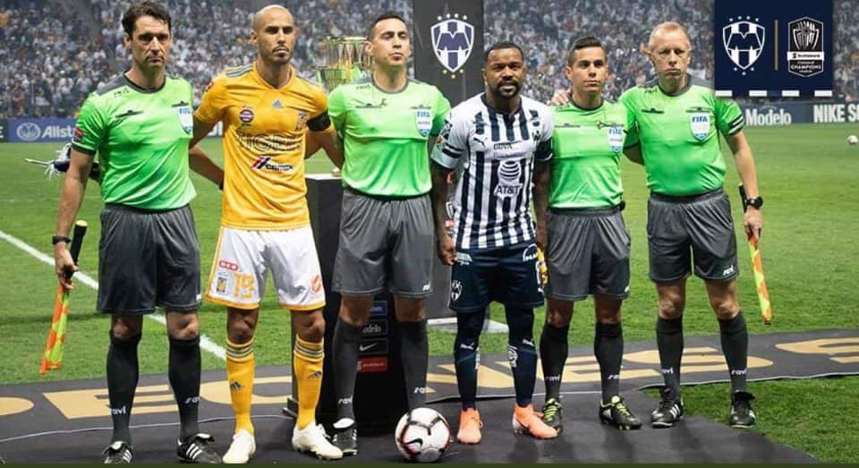 PRO Assistant Referees Frank Anderson (L) and Corey Rockwell (Far R) along with Jair Marrufo and Armando Villarreal on the CONCACAF Champion's League Final this week.