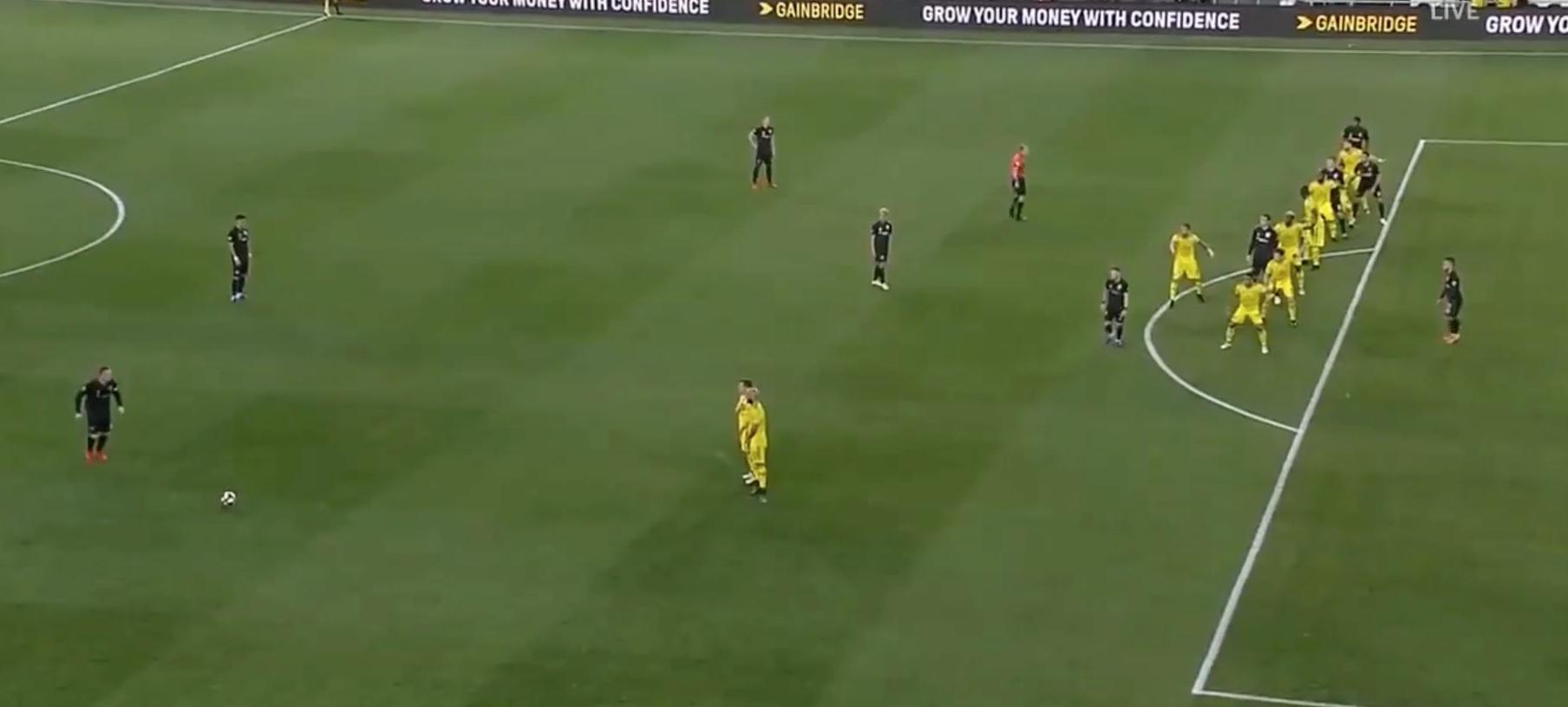 Free kick offside position