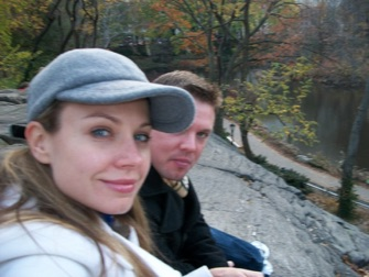Enjoying the Central Park with my younger brother, Scott. This is my favorite spot in New York City.