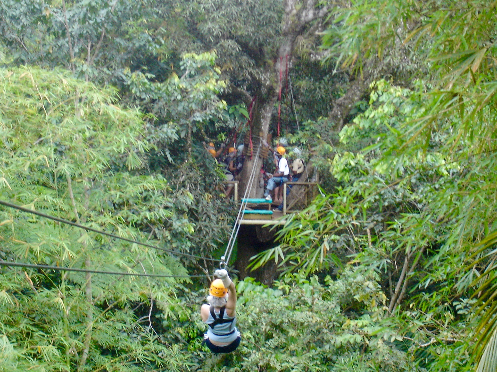 Ziplining across the Continental Divide in Costa Rica