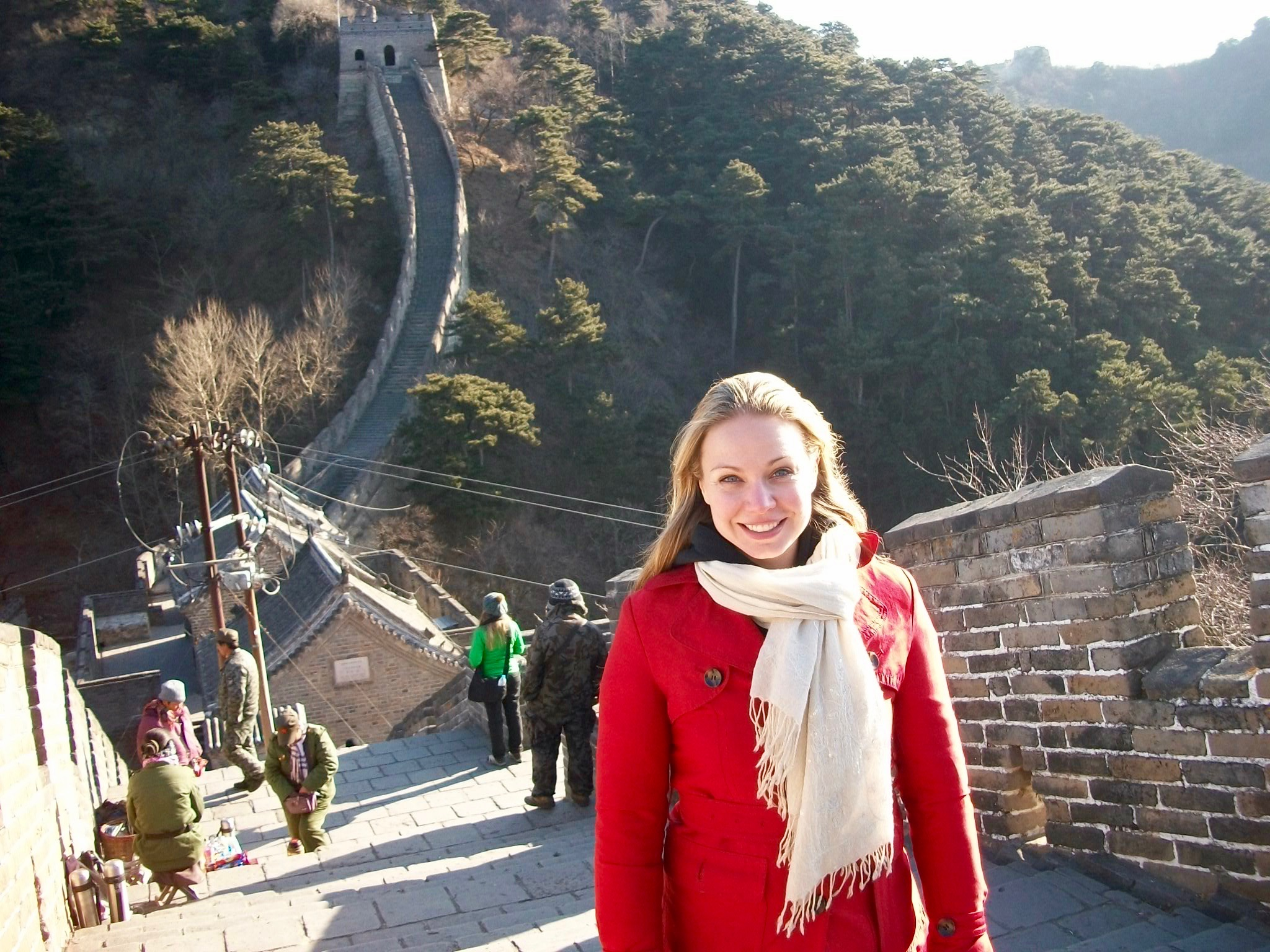 Stunning views high up on the Great Wall near Beijing, China