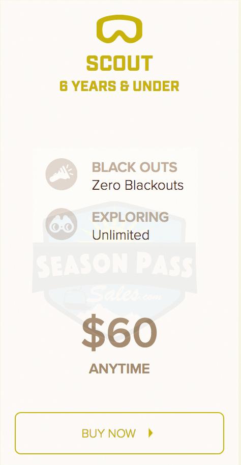 Peak Resorts Scout Kid's Pass