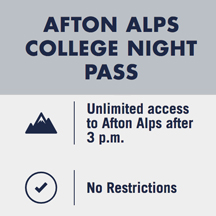 Afton Alps College Night Pass