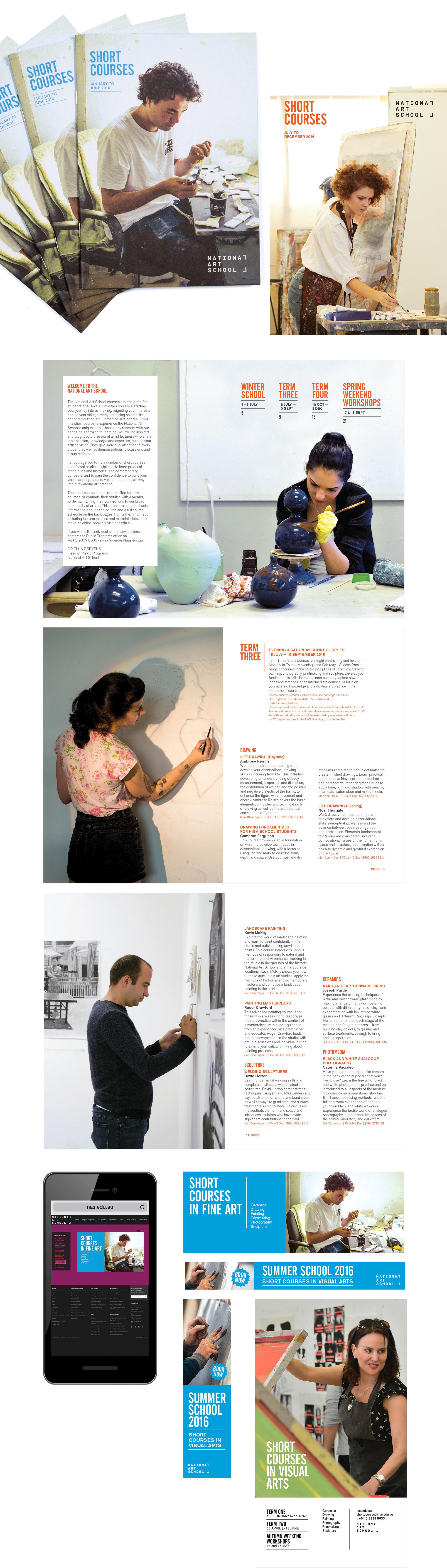 client  National Art School  project  Short Courses 2016 | brochures, digital ads & banners