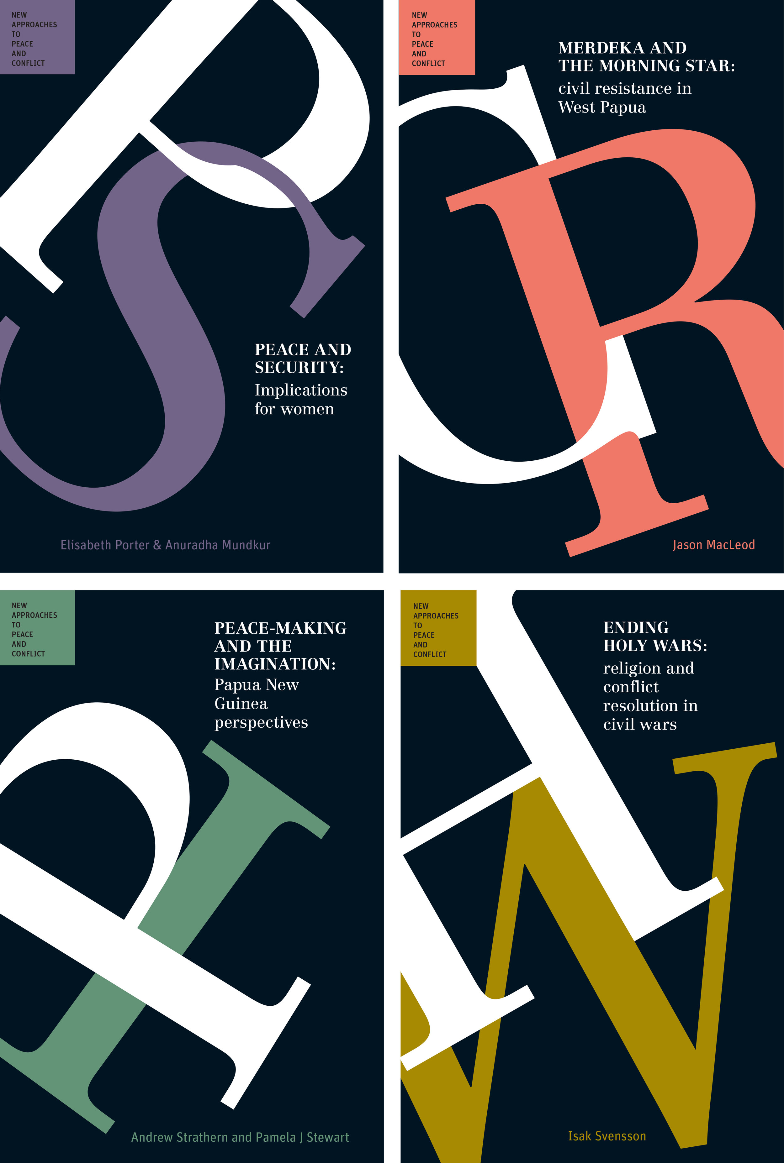 client  University of Queensland Press   project  New Approaches to Peace and Conflict | series design