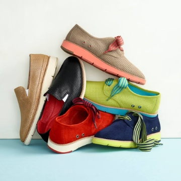 Athletic-inspired shoes from Johnston & Murphy at SouthPark Mall.