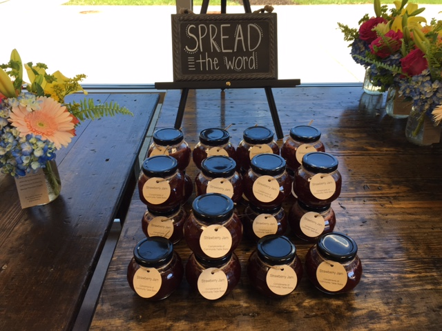 """At the media preview for Goodwill's new Community Table Bistro, visitors were given jars of strawberry jam that said """"spread the word."""" The bistro opens June 23."""