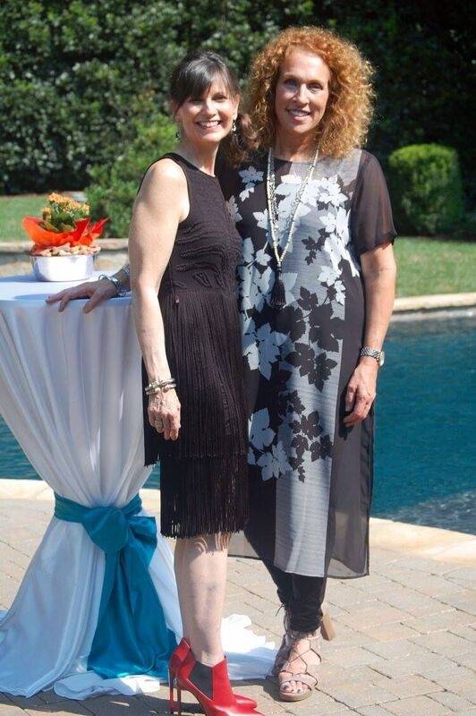 Fashion to the Rescue host Olivia Cohen, left,with Cary Bernstein, the founder and executive director of Spay Neuter Charlotte.