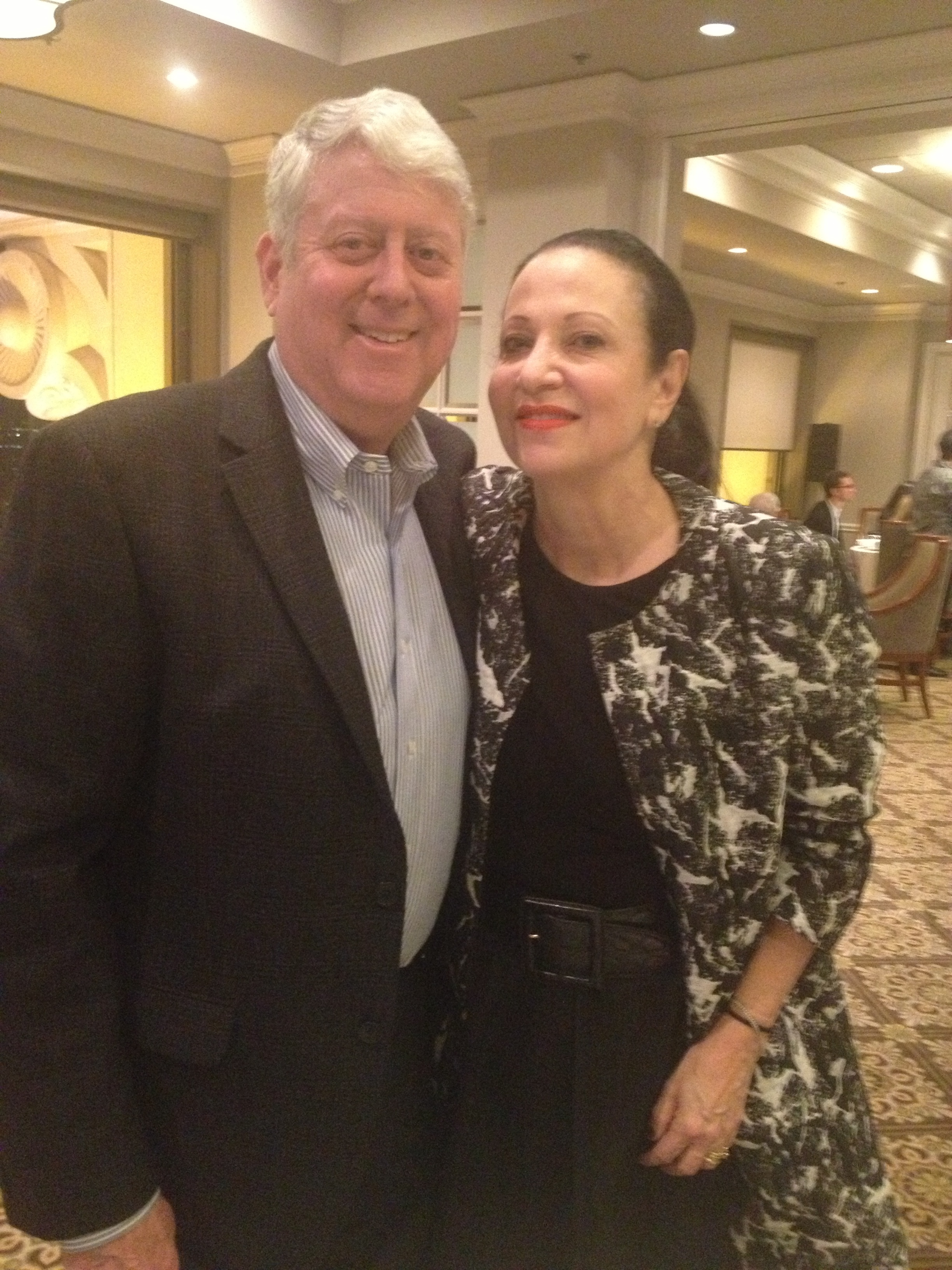 Acclaimed fashion forecaster Arlene Goldstein with her husband, Milton.