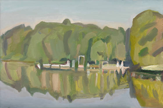 Vermont artist Martha Armstrong's blocky style is the subject of a solo show at Elder Gallery March 3 through April 1.