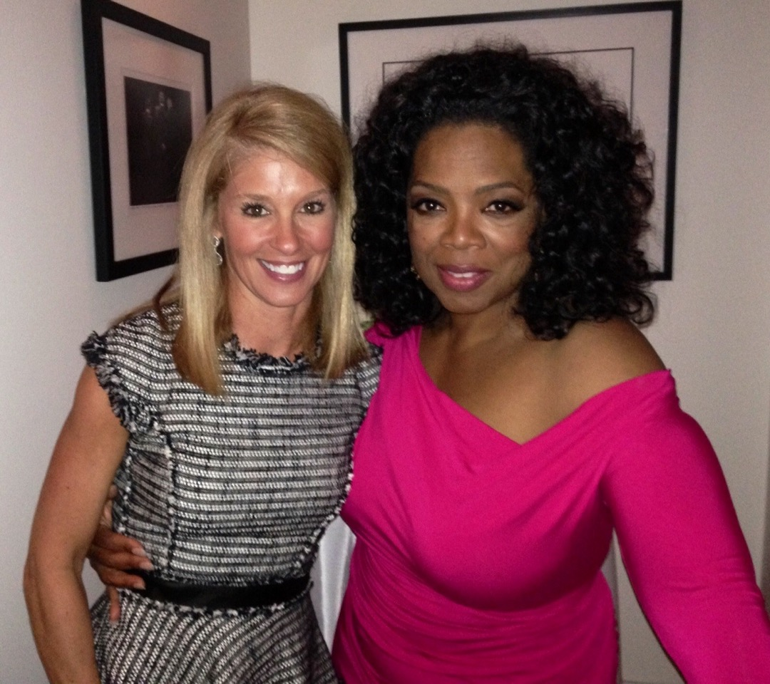 Leigh with Oprah Winfrey.