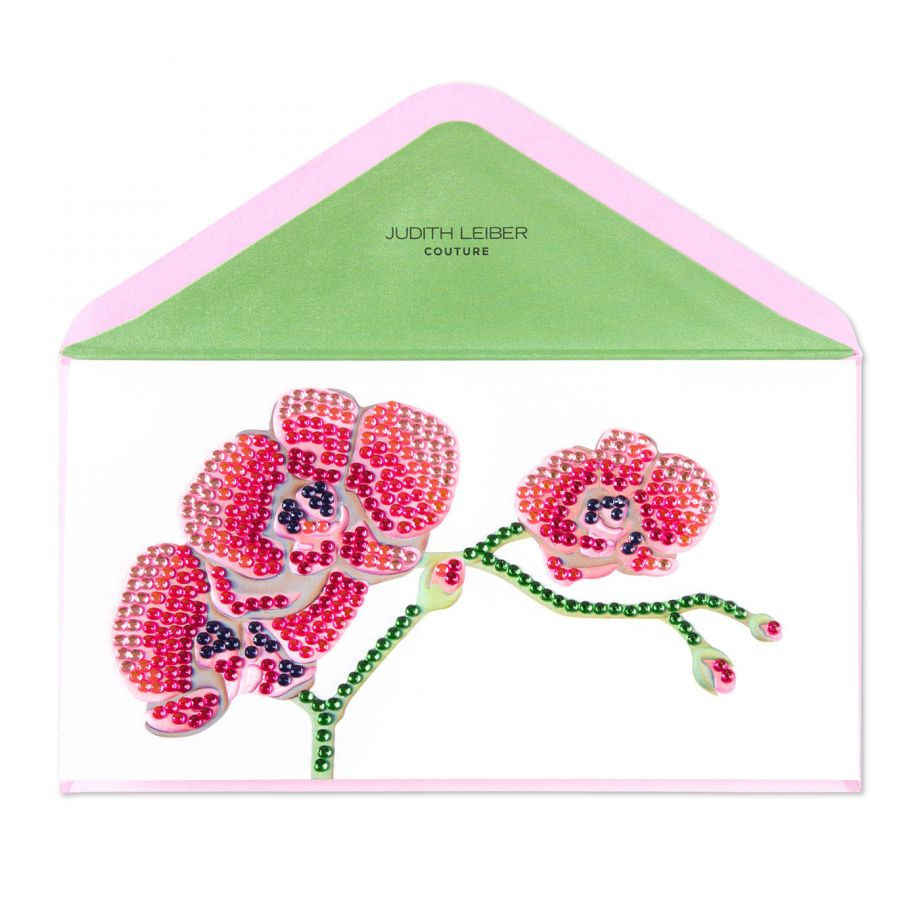 Pink orchid thank you card, $9.95.