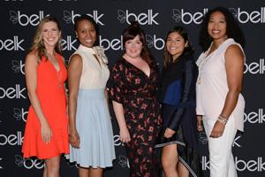 The 2017 Belk Southern Designer Showcase Winners are Natalie Woods, Mia Carreras, Marissa Heyl, Veronica Ramirez and Courtney Johnson.
