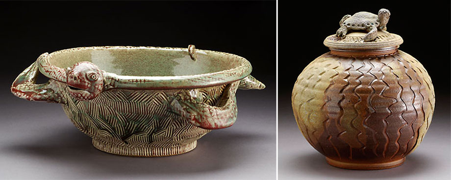 Works by Cynthia Bringle (above) and more than 50 other potters will be showcased Sept. 9 on the lawn of the Mint Museum Randolph during the annual Potters Market International.