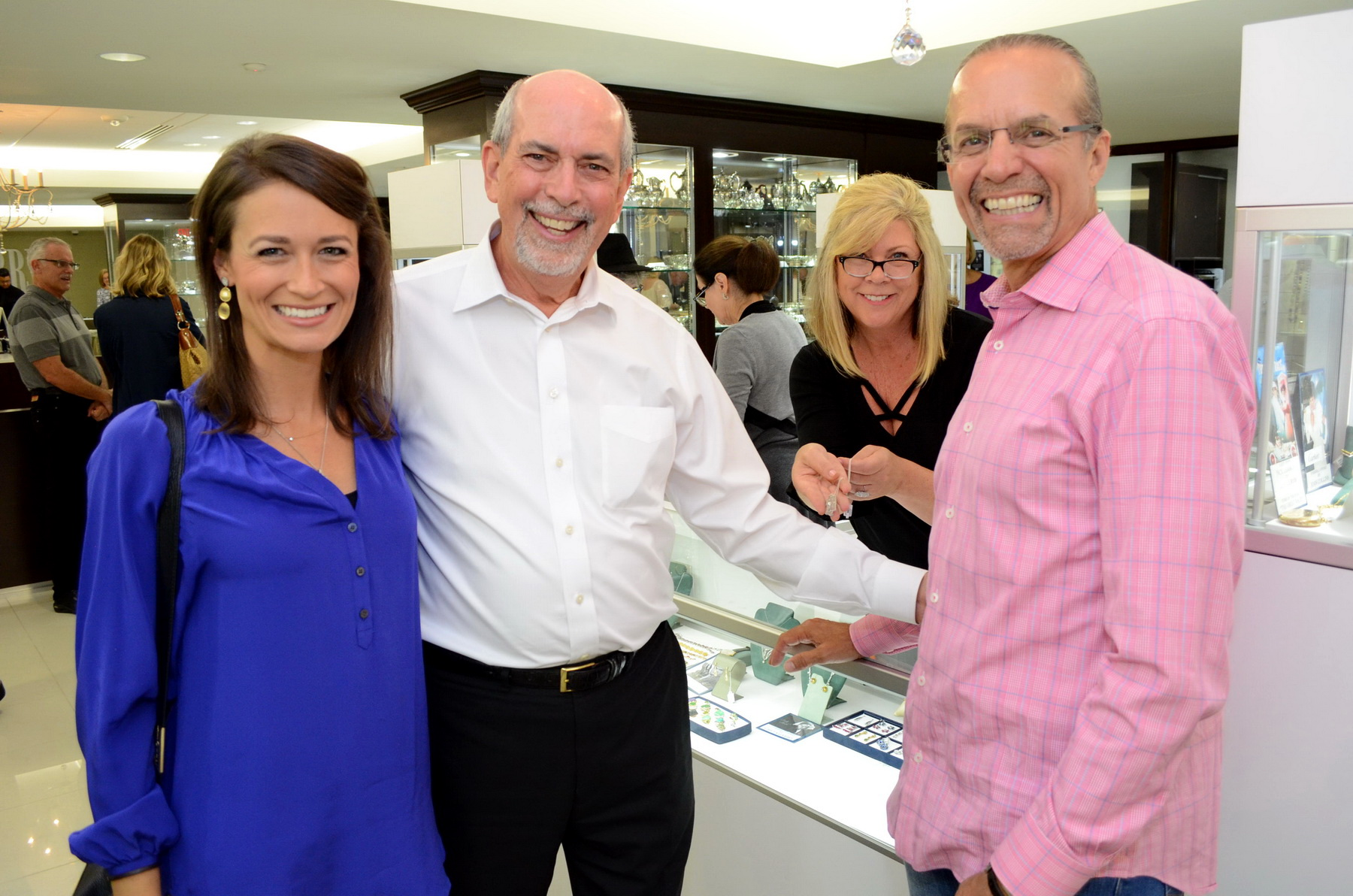 Morgan Petty, Ernest Perry, Julie Lopett and NASCAR legend Kyle Petty at the Sept. 13 Preview Party for a Celebrity & Designer Estate Sale at Perry's Fine, Antique & Estate Jewelry. The sale continues from 10 a.m. to 7 p.m. Sept. 14.   All photos by Paul Williams III.