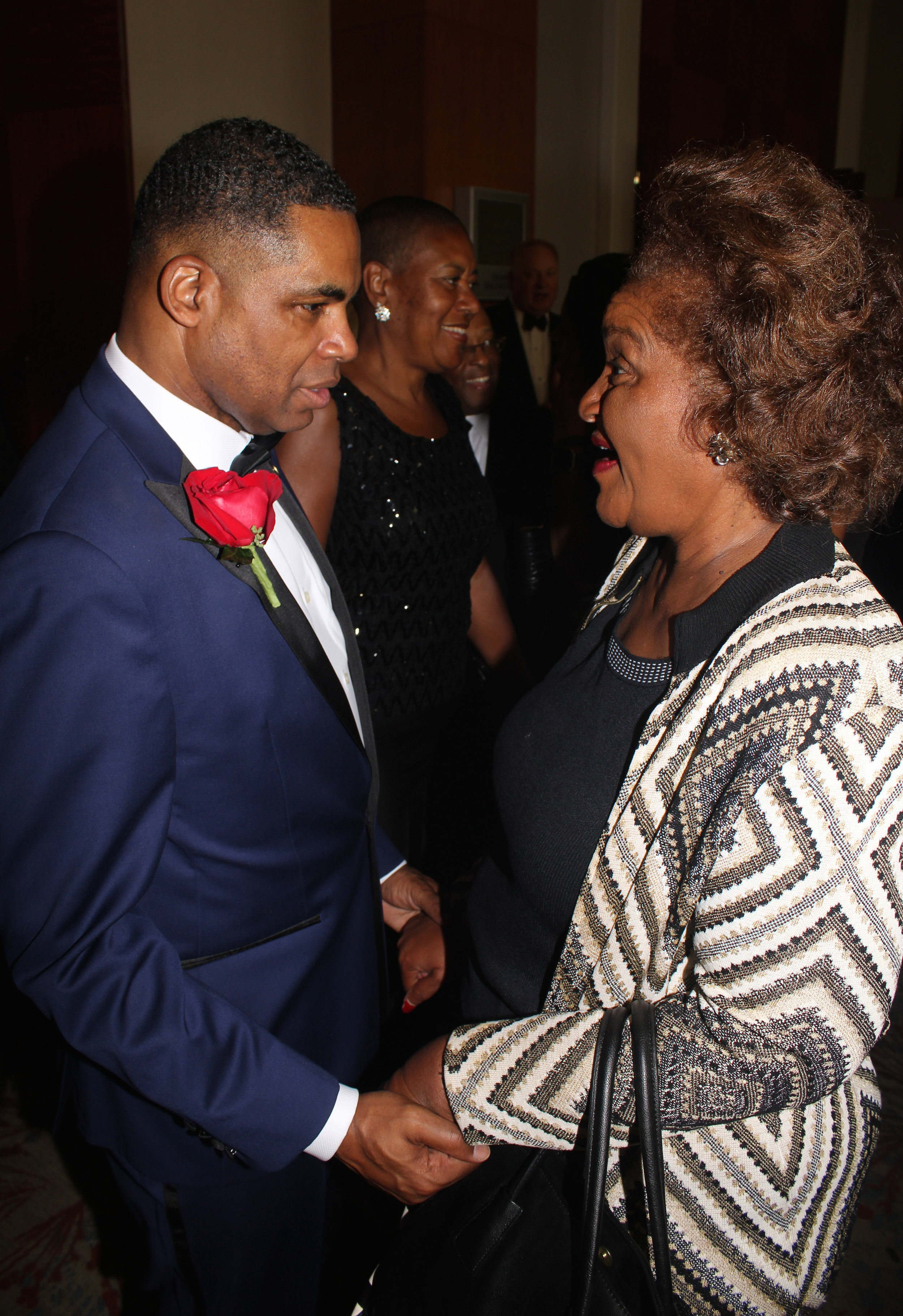 Kieth Cockrell with one of the most important women in his life, his beloved former teacher and mentor Juanita Cooke.