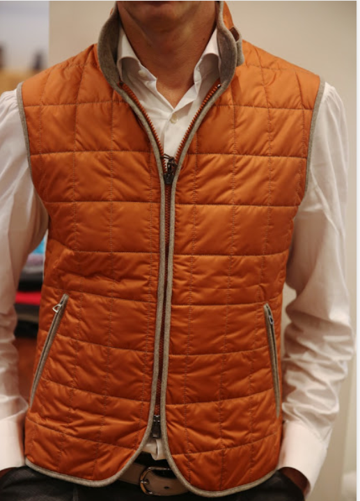 A quilted vest from the Italian brand Waterville.