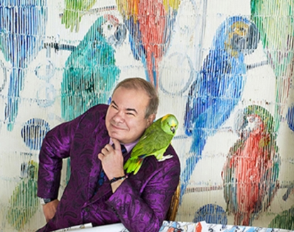 Meet acclaimed artist Hunt Slonem from 5 to 7 p.m. Dec. 13 at The New Gallery of Modern Art during a book signing for  Aviary .