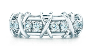 Schlumberger 16 Stone ring in platinum with diamonds, $9.900.