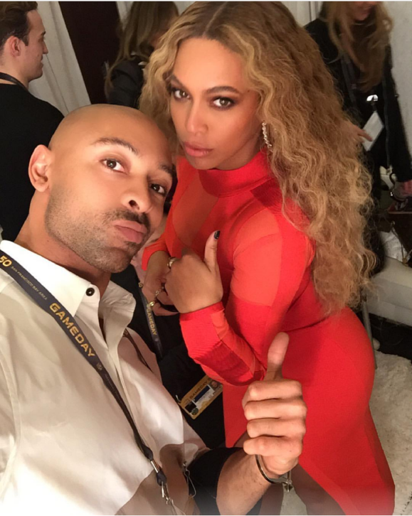 His most famous client: Sir John is the personal makeup artist for all of Beyoncé's albums, tours and red carpet events.