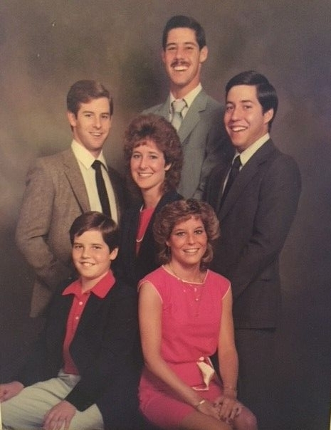 Randy (standing in the back sporting a mustache) and his siblings grew up in Manalapan, New Jersey.