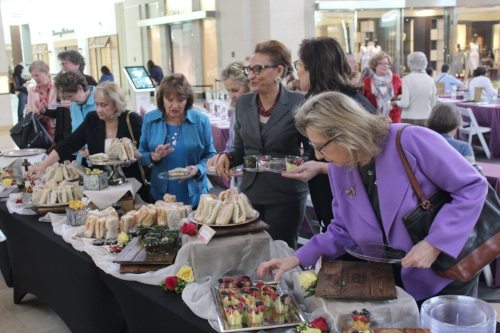 Guests raved about the fabulous luncheon menu from Reid's Fine Foods & Wine Bar at SouthPark: kale detox salad, mixed fruit and a variety of sandwiches.