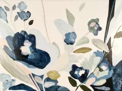 Unstoppable  by Vesela Baker is one of the works on view through June 1 at the  Botanica  exhibit at Anne Neilson Fine Art.