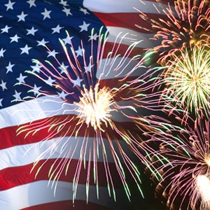 Enjoy patriotic music and fireworks at the Charlotte Symphony's  Celebrate America!  concert on July 1 at 8:15 p.m.
