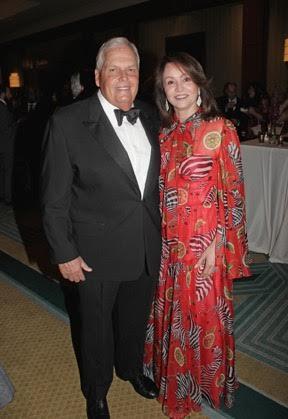 Honoree Rick Hendrick and his wife, Linda