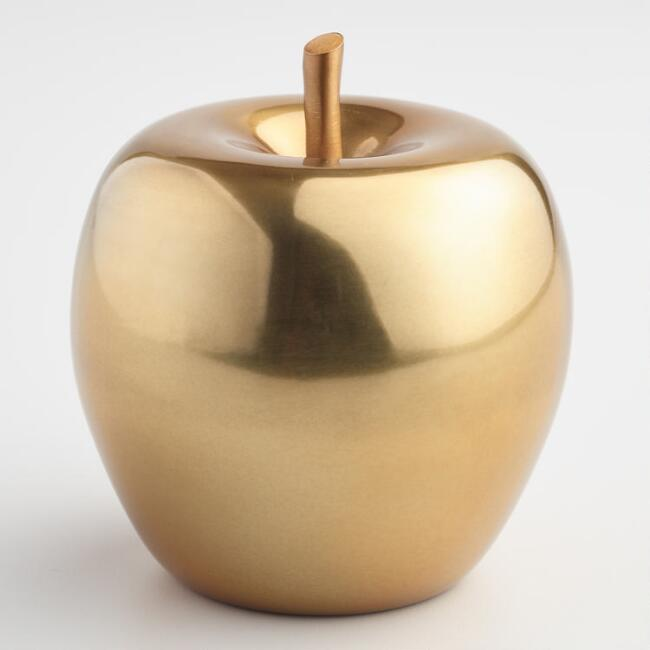 Gold Apple Decor, $11.99. World Market