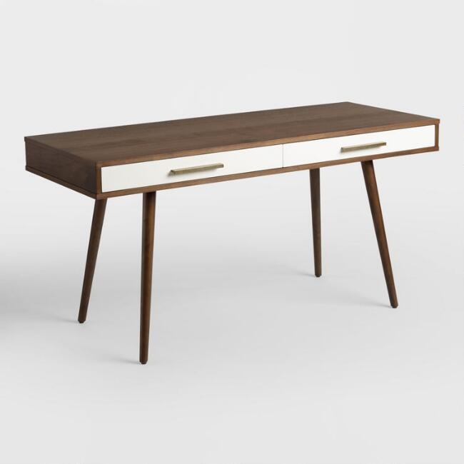 Wood Mid Century Zarek Desk, $349.99. World Market