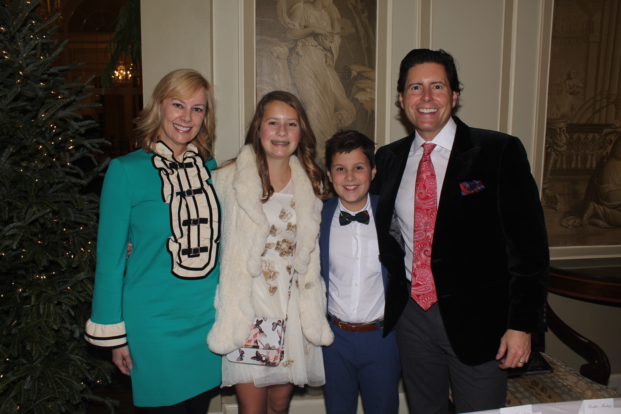 Ashley Anderson Mattei, Scott Mattei and their children were among the families at The Nutcracker Ball.