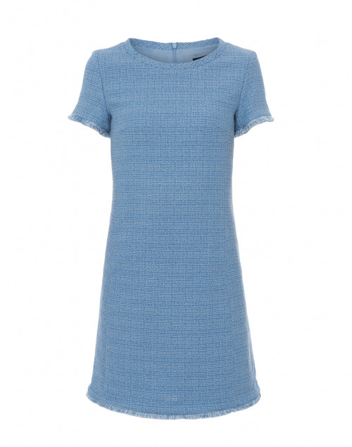 A two-piece tweed set that works beautifully on its own or when paired with other pieces.  Max Mara Zurigo Sky Blue Cotton Tweed Dress, $425.
